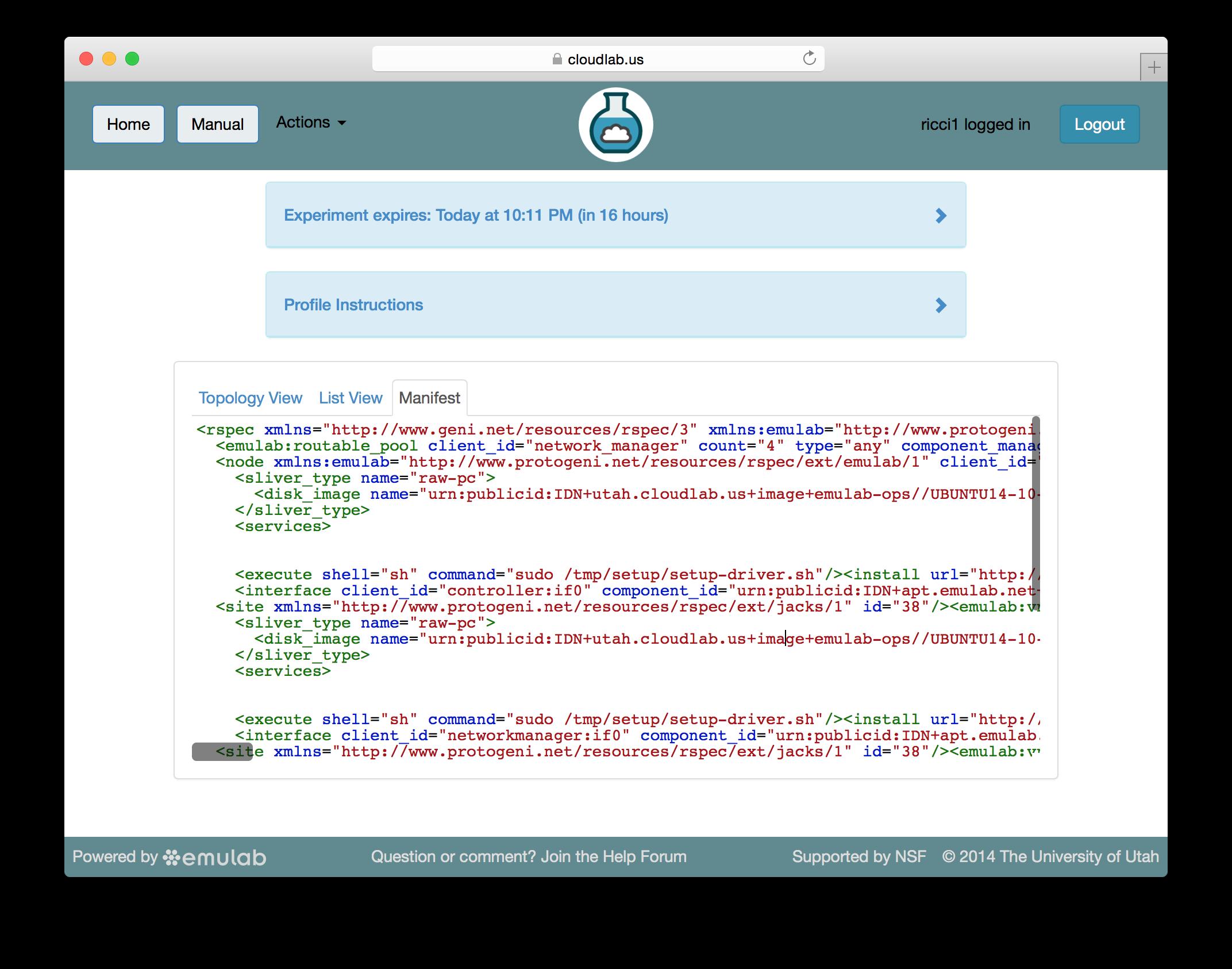 screenshots/clab/tutorial/experiment-manifest.png